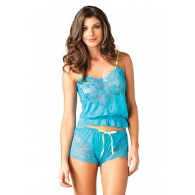 Кружевная пижамка Jersey cami & flirty short set